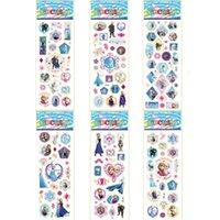 Wholesale Frozen Sheets Frozen Design Kids Cute PVC Puffy Stickers D Stickers Cartoon Craft Scrapbook Stickers H00080