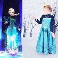clothes dropship - Cartoon Frozen Baby Girl Dresses Anna Princess Party Dress Children Clothing Kids Dresses Dropship Uptoyou