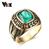 big high school - 18KGold Color Big Stone Rings for High School Students Jewelry Stainless Steel Rings for Men Party Jewelry