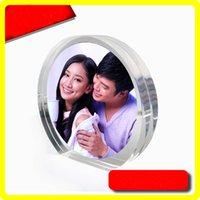 acrylic plexiglass round - Exquisite High Transparent Round Acrylic Plexiglass Picture Frames With Magnetic Creative Gifts for Special Day PF006