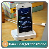 Wholesale White Data Sync Charging Charger Adapter Stand Station Dock for iPhone s