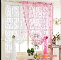Wholesale S Door Curtain Window Butterfly Pattern Tassel String Room Curtain