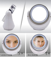 led light magnifying mirror - 360 Swivel Dual Magnify Mirror LED Light for Makeup EMS