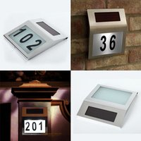 Wholesale Freeshipping Solar doorplate lamp light light operated led billboard lamp of house number solar apartment Number light