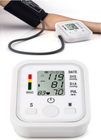 armed monitoring device - Medical Arm Style Blood Pressure Monitor Live Voice Back Light Sphygmomanometer LCD Display Devices Appliances Digital Automatic IHB WHO tt