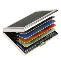 Wholesale Business ID Credit Card Wallet Holder Leather Stainless Steel Metal Case Box Hot Sell Cool Card Holders MCTBC