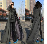 Wholesale New Autumn Winter Fashion Women Trench Coat Long Oversize Warm Wool Jacket Outwear colors in stock