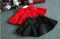 Cheap Cotton Ruffle Solid Color Children Clothing Ball Gown Skirt Kids Clothes Girls Midiskirt Skirts Spring Autumn Cute Fashion D5532