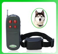 Wholesale 4 in Remote Pet pager tainer vibration and whistle Pet Trainer Dog Electronic Shock Vibrate Training Collar Remote Trainer