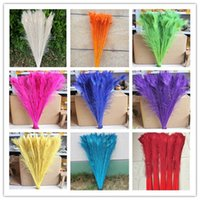 Wholesale dyeing peacock feathers cm inches color you choose Wedding centerpiece decor