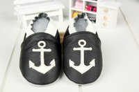anchor shoes - Baby Genuine Leather toddler shoes Anchor leather Pure hand Lovely more style first walker