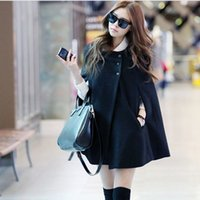 Wholesale Fashion Black Maternity Coat Loose Casual Cloak Woolen Coat Autumn Winter Warm Pregnant Women Clothing Plus Size Coat Cheap