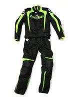 Wholesale KAWASAKI Clothing Sets Oxford jacket motorcycle jackets riding jackets and pants Windproof warm clothes suit