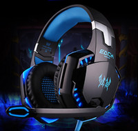 Wholesale 2016 EACH G2000 Over ear Game Gaming Headset Earphone Headband Headphone with Mic Stereo Bass LED Light for PC Game