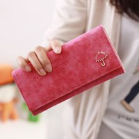 best pocket umbrella - 2015 Brand Designer Women Wallet Bags Best Umbrella Leather Button Clutch Purse Lady Long Handbag Bag Colors For Woman