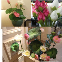 artificail flower - HI Q Vivid cm artificail silk lotus bud hotel and restaurant decorative flower artificial pond simulation plant