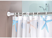 shower curtain - Bathroom shower poles retractable simple curtain rod easy install can help you for bath shower curtain and clothes hunging