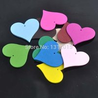 Wholesale Mixed wooden Heart Scrapbooking Craft for Home decoration x41mm XD0318 X
