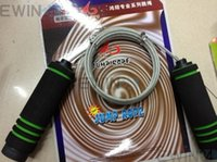 jump rope wholesale - Professional Steel Wire Speed Skipping Skip Adjustable Jump Rope Sponge Handle