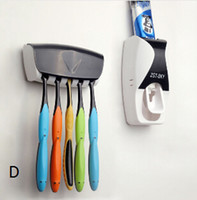 automatic toothpaste - Fashion Automatic Toothpaste Dispenser Toothbrush Holder Set Family Set Wall Mount Rack Bath Oral