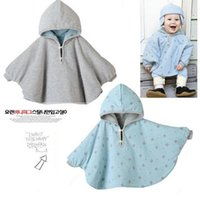 Wholesale Fashion Combi Baby Coats boys Girl s Smocks Outwear Fleece cloak Jumpers mantle Children s clothing Poncho Cape