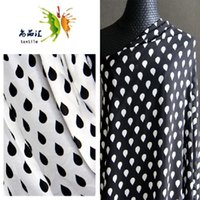 beauty rains - Spring beauties oblique chiffon fabric Korean wave point linen cloth fabric rain pattern
