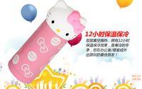 Wholesale 360ml Pink Stainless Steel Hello Kitty Mug Travel Bottle Mug Cartoon Kids Water Cup Fashion Cat Head Vacuum Mug