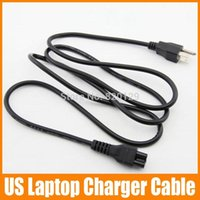 Wholesale Hot m cm US Prong AC Power Cable Computer Laptop Prong Power cord black High Quality