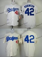 Men robinson - los angeles dodgers jackie robinson Cheap Wholesales Baseball Jersey Embroidery Name and Logo EME DHL