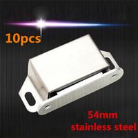 Wholesale 10pcs Cabinet cupboard door latch Magnetic door catch Holder Catch Stainless Steel Wardrobe Lacth