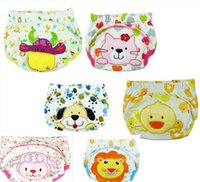 Wholesale Waterproof Cartoon Baby Cloth Diaper Cotton Infants Nappy Bag Boy Girls Bottom Underwear Chindren Nappy
