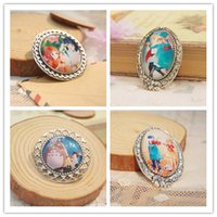 Wholesale Anime Miyazaki Hayao Brooch Totoro Spirited Away Hawls Moving Catle Whisper of the Heart Pins Mixed Order p0001
