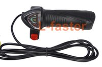 bicycle throttle - 24V V V Electric Bicycle Gas Throttle Twist Throttle LED Indicator Lithium Battery Voltage Indicator Electric Scooter Grip