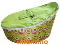 Wholesale Green circle with green seat baby seat bean bag
