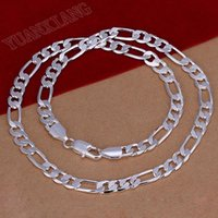 Wholesale Promotion mm inches Chain Necklace Silver Fashion Jewelry Necklace LKNSPCN018