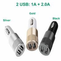 Wholesale NEW Dual USB Car Charger V A A A Dual USB Port Universal Car Charger For iPhone S iPad Samsung Galaxy Adapter