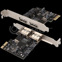 Wholesale PCI E PCI Express to SATA eSATA Adapter Converter Extension Card