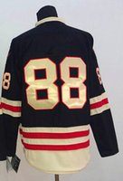 Wholesale 2015 Winter Classic Hockey Jerseys Jersey Chicago Black Color High Quality size Mix Order Stitched