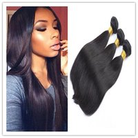 Wholesale Straight Hair weft weave bundles Brazilian Virgin Straight Hair Unprocessed Remy Human Hair extensions