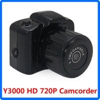 Wholesale New Mini Y3000 P Camera Spy HD Video PC Webcam Pocket DV DVR Camcorder Recorder Hidden Camera