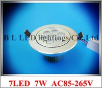 Wholesale high quality high power recessed LED ceiling spot light lamp W ceiling light W led AC85 V aluminum CE ROHS mm mm