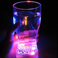 big plastic mug - Stocked Tea Cup Inductive Flash Led Cup Coke Party Pub Discos Fancy Light Big Size Plastic Mugs Color Changing Mugs Mark