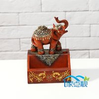 Wholesale Lucky resin elephant Card Holders Desktop business card holder personalized decorative ornaments creative gifts upscale business