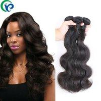 100 Humano Productos de pelo de la armadura del pelo onda del cuerpo del pelo brasileño de la Virgen 3pcs 6A bruto brasileño de la Virgen extensión del pelo humano Bundles