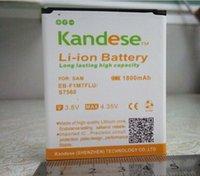 Wholesale Atacado unidades lotes KANDESE marca mAh bateria de substituição para Samsung Galaxy EB F1M7FLU S7560 batterie bateria