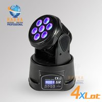 Wholesale 4X Freeshipping W IN1 RGBW MINI LED Moving Head Light Wash Light American DJ Light