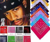 Wholesale DHL Cotton hip hop bandanas for Male female men women head scarf Scarves multi colour style Wristband