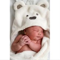 Wholesale 2014 New HE Practical Newborn Infant Swaddling Unisex Baby Blanket Boy Girl Cartoon Blanket Coral Fleece EH