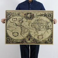 ancient military - 1641 ancient nautical charts vintage kraft paper poster wall stickers room decoration home decal global maps mural art home decora