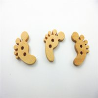 buttons wholesale - Lovely Sewing Cartoon Animal Wood Buttons Holes Knopf Bouton Button Craft for Scrapbooking sewing accessories